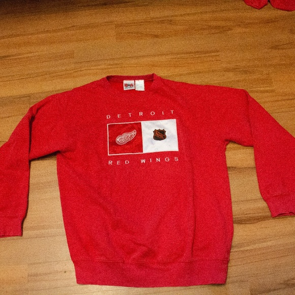 Vintage Detroit Red Wings Crew Neck Sweatshirt Lg c8ba905c5